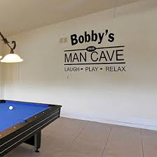 Custom Name Man Cave Wall Decal Personalized Name Man Cave Vinyl Wall Decal Sticker Art Guy S Cave Decal Basement Decal Gift For Dad Bar Rec Room Pub Decal Handmade Cog7lw0yc
