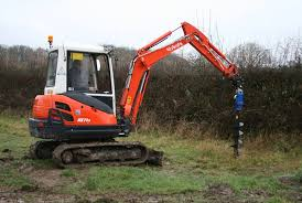 This Excavator Attachment Fits On The 3 Ton Range The Hydraulic Operated Post Borer Makes Light Work Of Fencing And Planting Trees Bann Hire Sales
