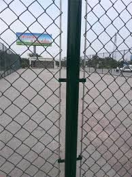Highly Flexibility Pvc Coated Chain Link Fence 3000 5000 Mm For Separate