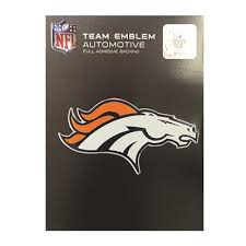 Chrome Denver Broncos Auto Emblem Wholesale Superior Car Wash Supply