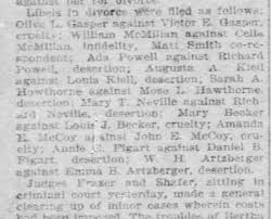 Ada Powell - Filed for divorce 30 Apr 1899 clipping - Newspapers.com