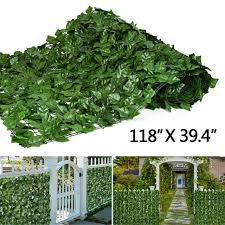 Costway Gt3048 59 X 118 Inch Faux Ivy Leaf Artificial Hedge Fence Screen For Sale Online Ebay