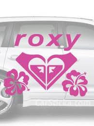 Roxy Hibiscus Surf Car Vinyl Sticker Decal A Car Decals Vinyl Vinyl Sticker Hibiscus