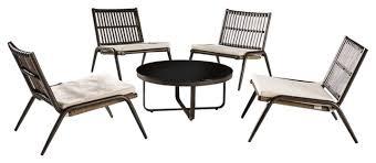 modern outdoor low seating set
