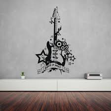 Rock N Roll Guitar Wall Decal Style And Apply