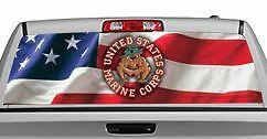 Truck Rear Window Decal Graphic Military Usmc Bulldog 20x65in Dc03506 Ebay