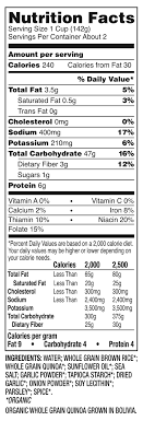34 brown rice nutrition label labels