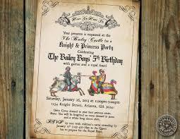 Medieval Times Or Renaissance Birthday Party Invitation With Knights At Battle Fiesta Medieval Bodas De Cuento Decoraciones Medievales