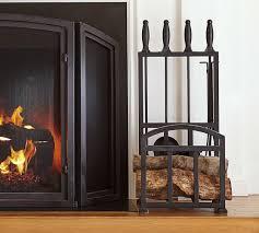 classic fireplace log holder tool set