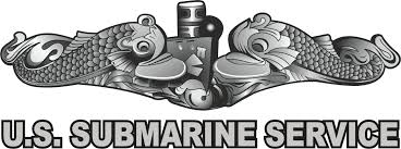U S Submarine Service With Dolphins Window Decals