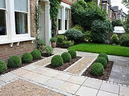 simple front garden landscaping idea