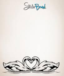 Vinyl Wall Decal Sticker Love Swans Os Aa103 Stickerbrand