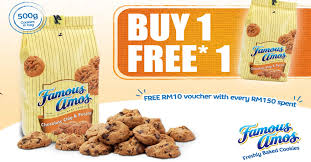 famous amos one free one 500g