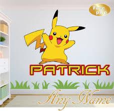 Personalised Dinosaur 4 Name Wall Art Girls Boys Transfer Nursery Bedroom Ebay Pokemon Wall Stickers Wall Stickers Kids Name Wall Art