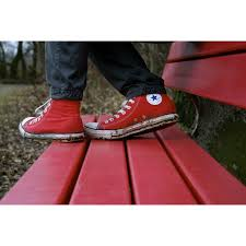 Peel N Stick Poster Of Converse Shoes Red Poster 24x16 Adhesive Decal Walmart Com Walmart Com