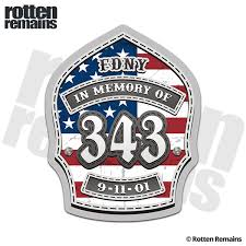 9 11 Memorial 343 Firefighter Helmet Shield Usa American Flag Sticker Decal Rotten Remains High Quality Stickers Decals