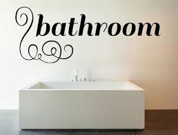 Bathroom Vinyl Wall Decal Bathroom Wall Decals Vinyl Quote Etsy