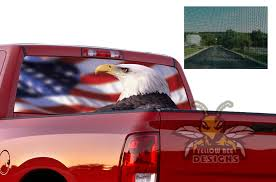 Eagle Usa Perforated Sew Throw Decals Dodge Ram For Dodge Ram