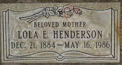 Lola Effie Parks Henderson (1894-1986) - Find A Grave Memorial