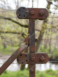 Rusty Steel Wire Fence And Tensioner Scotland Stock Photo C Fred49 11916898