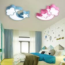 Eye Protection Stars Moon Ceiling Light Modernism Children Room Blue Pink Acrylic Lighting Fixture Takeluckhome Com