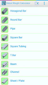 metal weight calculator for android