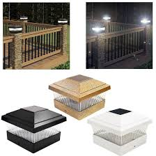 Black Solar Fence Lights Othway Solar Fence Post Lights Wall Mount Decorative Deck Cabtivist