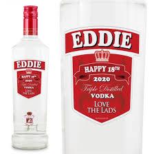 smirnoff vodka personalised bottle gift