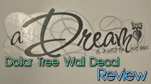 Dollar Tree Wall Decals Quick Review Cheap Decor Creation In Between Youtube