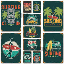 2020 2020 Aloha Tiki Bar Poster Hawaii Party Decor Vintage Wall Art Painting Decorative Plaque Wall Sticker Beach Surfing Metal Tin Signs From Boxx 1 19 Dhgate Com