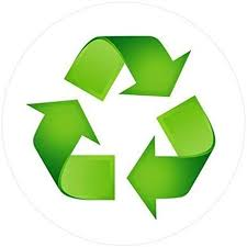 Amazon Com Recycle Sticker Trash Decal For A Recycling Trash Can 5 Round 10 Clear Kitchen Dining