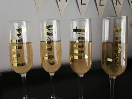 Champagne Flute Gold Vinyl Decals Girls Night Out Dirty Etsy