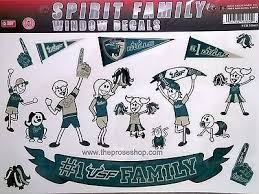 Usf Bulls Family Spirit Large Window Decal Sheet University Of South Florida Family Decals Family Stickers Decal Sheets