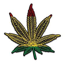 Rasta Marijuana Leaf Vinyl Sticker Waterproof Decal Sticker 5 Walmart Com Walmart Com