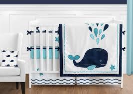 whale baby crib bedding set 8 piece boy