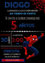 Invitacion Spiderman Invitacion De Spiderman Fiesta De