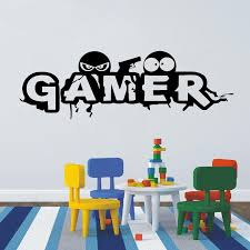 Gamer Controller Gaming Wall Stickers Vinyl Kids Playroom Boys Rooms Wall Art Decal Removable Home Wall Decortion Mural Wall Stickers Nursery Wall Stickers Quotes From Joystickers 10 85 Dhgate Com