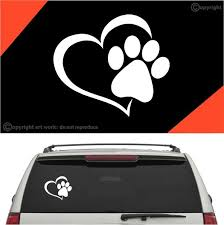 Paw Heart Dog Cat Auto Decal Car Sticker Topchoicedecals