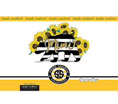 Simply Southern Mimi Bear Sunflower Tervis