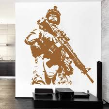 Stickers For Wall Us Soldier Marine Army Military Guys Wall Decal High Quality Vintage Poster Self Adhesive Vinyl Film Ny 301 Stickers For Wall Stickers Forvintage Poster Aliexpress