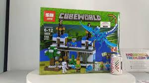 Mở hộp Lepin 18020 Lego Minecraft MOC Blue Sky Dragon giá sốc rẻ ...