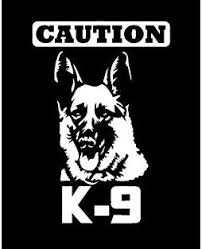 Amazon Com 7 Caution K 9 Police Dog Vinyl Decal Sticker Window Glass German Shepherd Home Kitchen