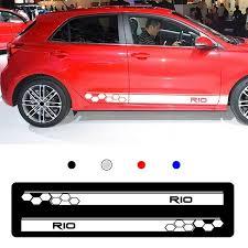 2pcs For Kia Rio Car Body Sticker Vinyl Side Skirt Sticker Decals White Graphics Wish