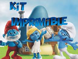 Los Pitufos Kit Imprimible Cumpleanos Personalizados 390 00 En