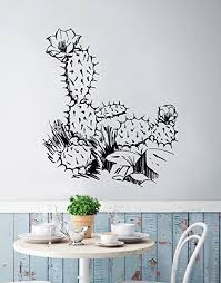 Amazon Com Desert Cactus Wall Decal Large Size 50in X 43in You Pick The Color 236b Everything Else