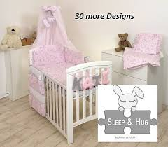 unicorn on pink baby bedding set cot or