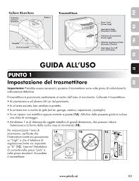 Guida All Uso Punto 1 Impostazione Del Trasmettitore En Fr Es Nl It De Petsafe Wireless Pet Containment System Pif 300 21 User Manual Page 101 144 Original Mode