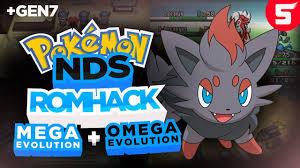 Completed Pokemon NDS Rom Hack With Mega Evolution, Omega Evolution & Gen 7  (2018) - YouTube