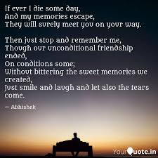 if ever i die some day a quotes writings by abhishek