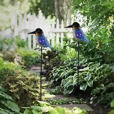 decorative bird garden solar lights